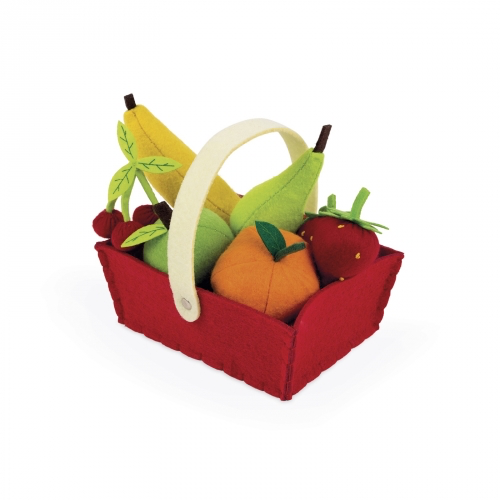 Fabric Basket With 8 Fruits