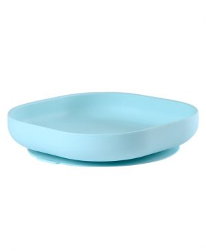 Silicone-Suction-Plate-Blue