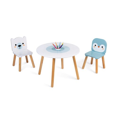 Table And 2 Chairs - Polar